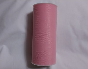 Pink Tulle, Pink Tulle Roll, Pink Tulle 25 yards, 6 inch tulle, 6 inch tulle roll, Tulle, Tulle Fabric, Tutu Tulle, Wedding Tulle