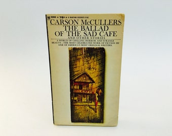 Vintage Sci Fi Horror Book The Ballad of the Sad Cafe by Carson McCullers 1964 Paperback Anthology
