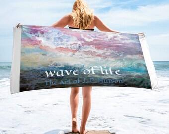 Wave of Life Beach Towel