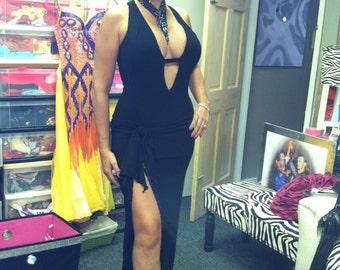 Black Dance Dress  Black Long Evening Dress