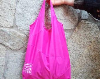 Shopping bag made with an umbrella canvas, recycle umbrella, vegan shopper, market bag, grocery shopper, shopping bag.