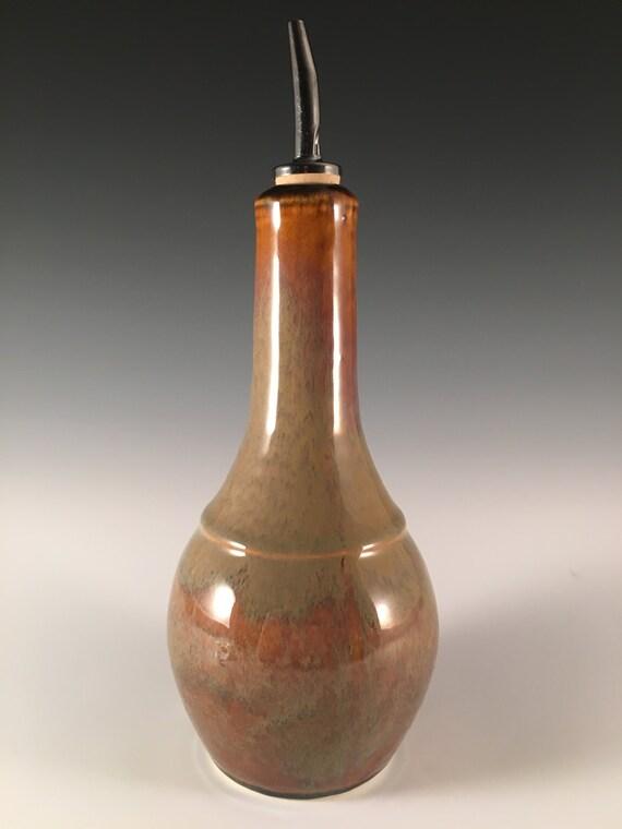 Olive Oil Cruet in rich brown glaze