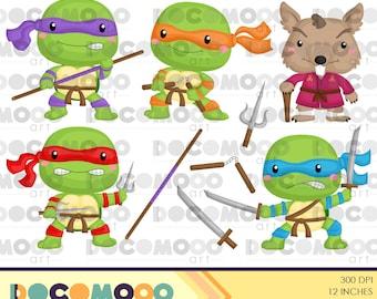 Ninja Clipart, Turtle Clip Art, Weapon Png, Mouse Clipart, Ninja Turtle Clipart, Martial Arts Clipart, Digital Clipart, Cartoon Clipart