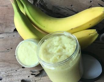 Creamy Banana Soap Scrub - Pick Your Size - Sugar Scrub - Soap - Organic