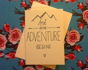 Card - And so the Adventure Begins