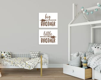 Big Brother Print, Little Brother Print, Shared Bedrooms, Brothers Bedroom Decor, Big Brother Gift, Brothers Shared Bedroom Art