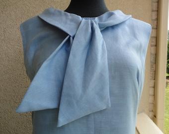 Blue Linen Sears Dress