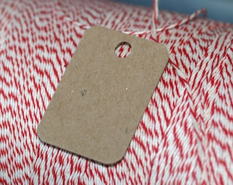 "Mini Chipboard Tags (100) ... 1.25"" x 1.75"" Rounded Corners Lightweight Product Tags Price Tags Small Hang Tags Kraft Paper Tags Supplies"