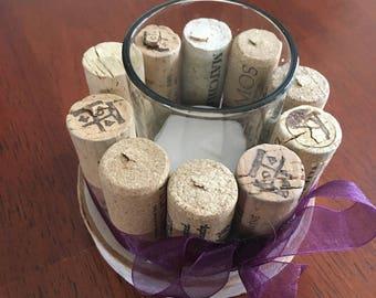 Wine Cork Tea Light Holder