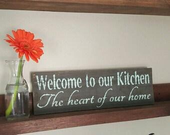 Farmhouse Decor, Kitchen Decor, Farmhouse Kitchen, Country Kitchen, Welcome to Our Kitchen, Country Home Decor, Housewarming Gift Idea