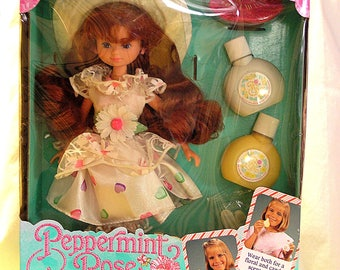 LIMITED TIME *SALE* - Rare New, Unopened Mattel Peppermint Rose Vanilla Daisy Fashion Doll with accessories (1992)