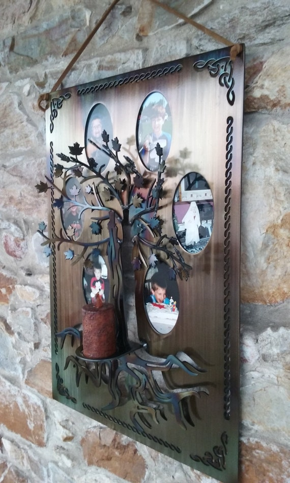 Tree of Life Wall Art Picture Frame,Home Accent,Photo Display,Metal Art,Celtic Theme,House Warming Gift,Gift forHer,Home Decor,Candle Holder