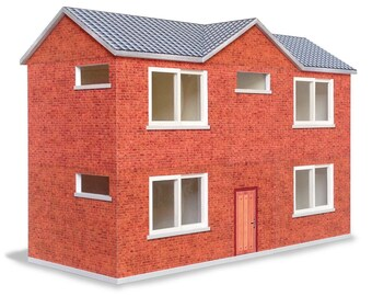 model B #001 - ifunwoo Dollhouse Paper Model