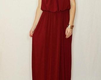 SALE Bridesmaid dress Burgundy dress  Wine red maxi dress Long bridesmaid dress