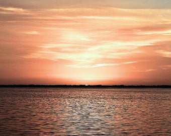 Sunset Over the Sound, Florida sunsets, nature photography