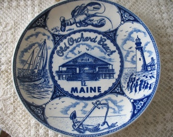 Old Orchard Beach Maine souvenir plate.