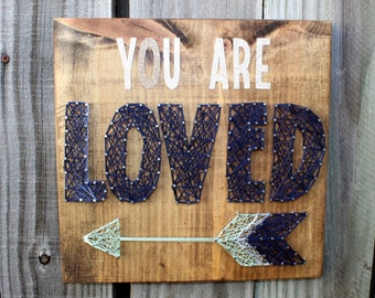 You Are Loved String Art Decor