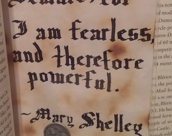 Calligraphy Quote - Mary Shelley
