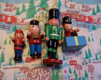 four darling wooden soldier ornaments