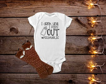I Drink Until I Pass Out, Funny Baby Onesies®, Baby Boy Clothes, Baby Girl Clothes, Funny Baby Clothes, Unique Gift, Trendy Baby Clothes