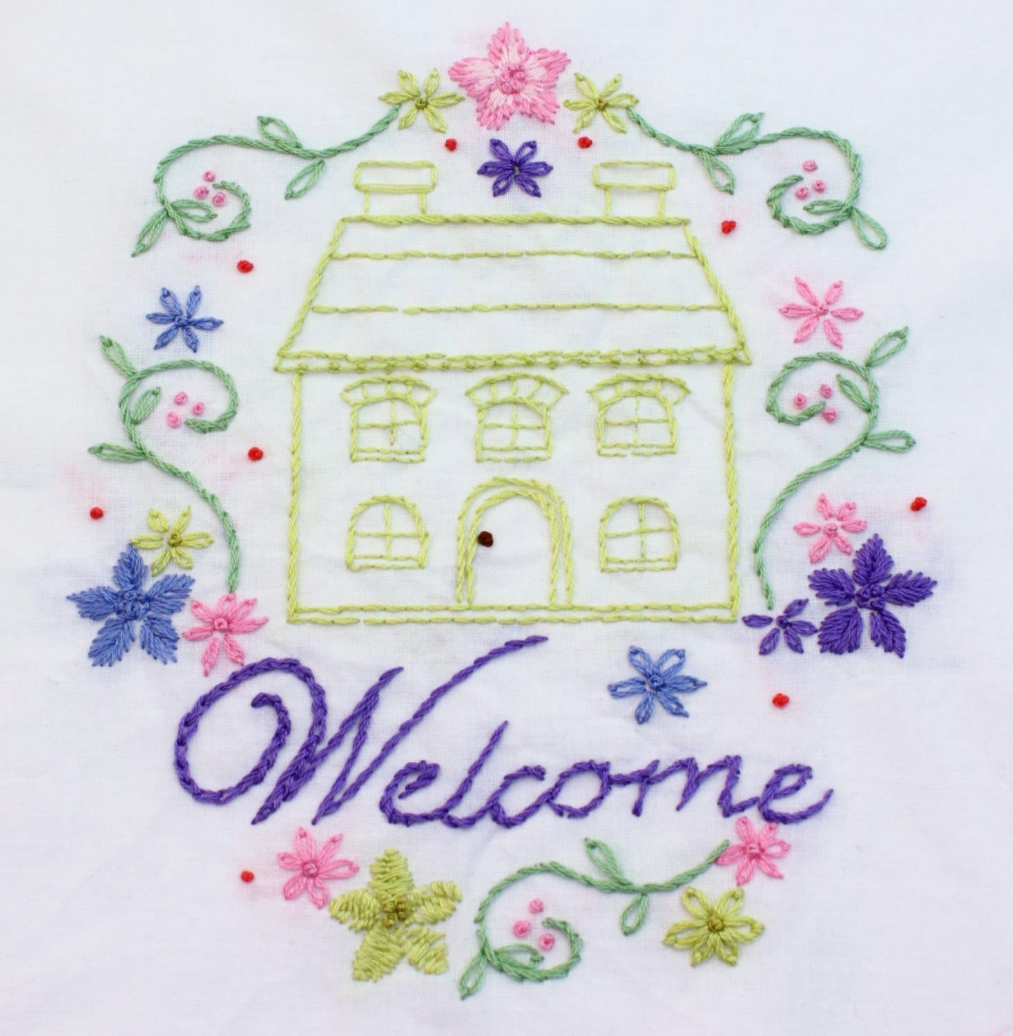 Home Sweet Home Hand Embroidery Pattern House Design Home Is