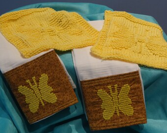 Dish Cloth/Embroidered Dish Towel Set