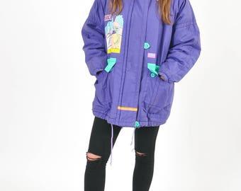 Vintage 90's oversized parka jacket