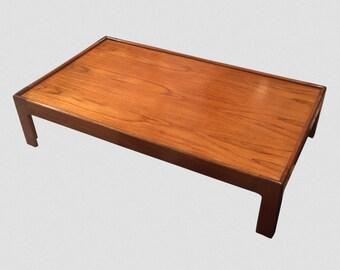 Low Mid-Century Walnut Coffee Table