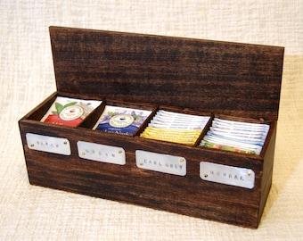 tea box, tea chest, wooden tea box, tea storage, tea bag box, tea gift box, personalized tea box, keepsake tea box, gift set tea