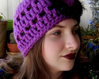 Crocheted Cloche Hat Soft And Pretty Choose your color