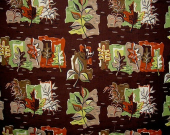 bark cloth fabric in autumn colors
