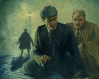 """Sherlock Holmes 'The West End Horror' 11"""" by 17"""" Print"""