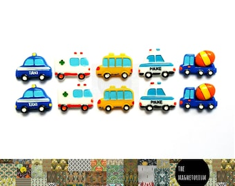Vehicle Car Truck Transport Magnets [Fridge Magnets, Refrigerator Magnets, Magnet Sets, Office Decor, Kitchen Decor, Magnetic Board]
