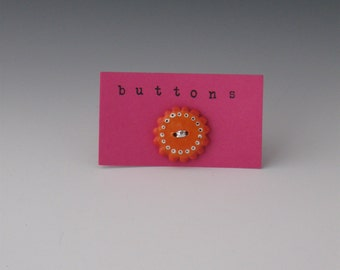 Ceramic Button,  Buttons, Red Buttons, Ceramic Red Buttons