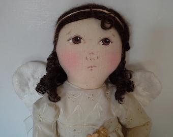 Handmade Angel Doll, Folk Art Angel, Angel Soft Doll, Stuffed Angel Doll, Folk Art Doll, OOAK Angel Doll, Guardian Angel Doll, Angel Decor
