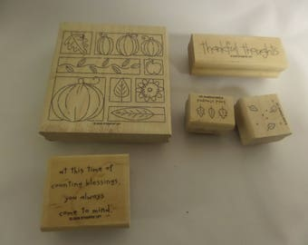 """Stampin' Up! Stamps!- Rubber Stamps for Scrap booking and Card Making.  """"Thoroughly Thankful"""""""