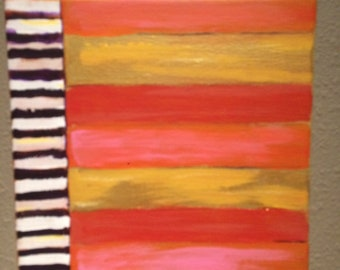 """graphic painting """"Gold Stripes 3"""""""