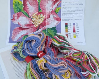 Mini Camellia EHRMAN NEEDLEPOINT KIT  by Elian McCready 2006