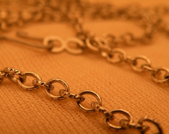 """Antiqued Silver Vintage Style Chain Blank 34"""" length"""