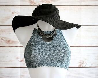 Crochet festival top, Halter top, Festival clothing, top bra, yoga bra, Crop top, Hippie top, Summer top, crochet vest top, Hippie clothing