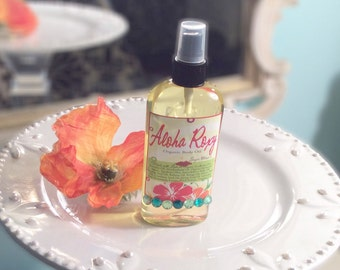 Aloha Roxy  Body Oil - Sweet & Sassy Tropical Fruits with Fizzy Dazzle  - Massage Oil -  Argan Oil - 4.7 oz 99% Natural