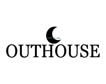 Out House Bathroom Decal - Wall Decal - Vinyl Wall Decals, Vinyl Decal, Bathroom Decor, Outhouse Wall Decal, Outhouse Decor