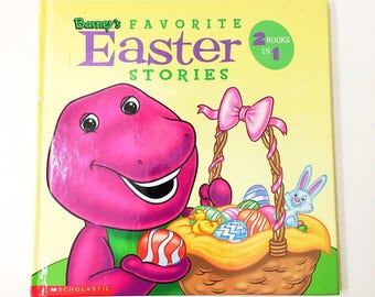 Barney's Favorite Easter Stories Book.  Barney Book.  Easter Book.  Easter Bunny book.  Christian book.  Children's Easter book.