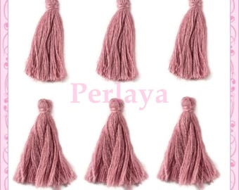 Set of 20 tassels purple/pink 3cm REF2495