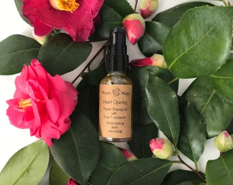 Heart opening massage oil, organic, vegan