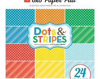 Echo Park Paper DOTS & STRIPES Summer 8x8 Scrapbook Paper Pad (DS15016)
