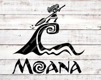 Moana Svg Files - Moana Svg Design - Moana Png Files -Silhouette - Clipart - Svg For Cricut - Svg For Silhouette - Vector Graphics -Dxf-Eps