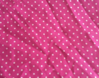 2 yards of fabric Traditions quilting cotton pink with white polkadots free shipping