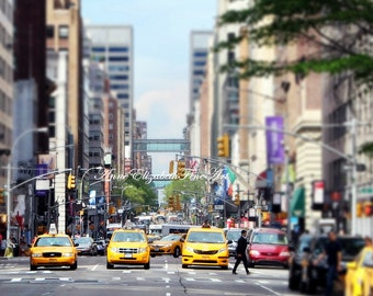 New York Art,Yellow Taxi Cab Art ,Colorful,Office Art, Dorm Decor, Urban,Street Sign,Hipster,Skyscraper, Preppy Print, Kitchen,Modern Art