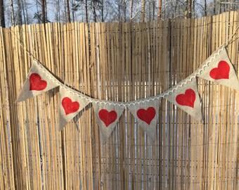 Wedding banner, hearts banner, wedding gerland, love banner,wedding decor